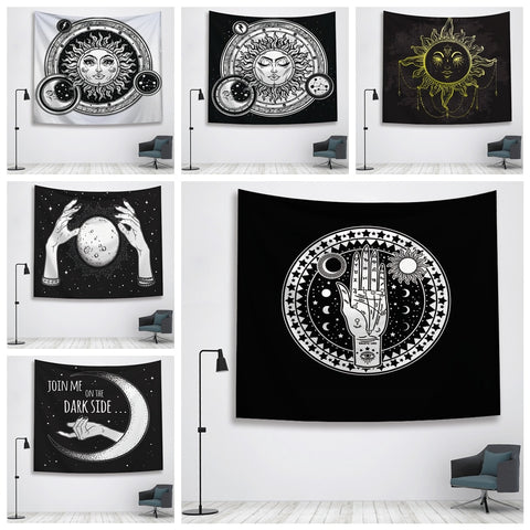 Sun Witchcraft Ouija Tapestry Wall Fabric Wall Hanging Tapestry Wall Blanket Farmhouse Home Decor  Boho Decor Window Tapestry - one46.com.au