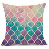 XUNYU Colorful Decorative Cushion Cover Linen Throw Pillow Cover Scandinavian Pillow Case Home Office Sofa Decor KQ004 - one46.com.au
