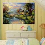 Thomas Kinkade Oil Paintings The Cottage Christmas Art posters and prints Giclee Art On Canvas Wall art pictures home decor 03 - one46.com.au