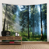 Beautiful Natural Forest Printed Large Wall Tapestry Cheap Hippie Wall Hanging Bohemian Wall Tapestries Mandala Wall Art Decor - one46.com.au
