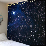 3D Night starry sky Tapestry wall hanging Bedspread Dorm Cover Beach Towel Backdrop Home Room Wall Art Multiple sizes - one46.com.au