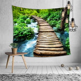 3d waterfall landscape wall hanging tapestry bedspread bedroom for apartment interior tapestry japan beach picnic camping mat - one46.com.au