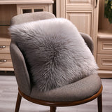 Artificial Wool Fur Sheepskin Cushion Cover Hairy Faux Plain Fluffy Soft Throw Pillowcase Washable Square Solid Pillow Case - one46.com.au