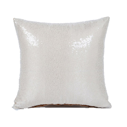 2019 Solid Color Glitter Silver Sequins Bling Throw Pillow Case Sofa Seat Cafe Home Decor Cushion Cover Decorative Pillows Cases - one46.com.au