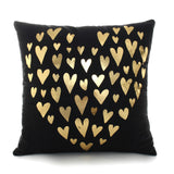 Bronzing Cojines Decorativos Para Sofa Letter Deer Animals Tree Love Merry Christmas Pillow Case Cushion Cover for Sofa Home - one46.com.au