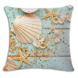 Sea Beach Cushion Cover Woven Linen Family Affection Sofa Car Seat Family Home Decorative Throw Pillow Case Housse De Coussin - one46.com.au