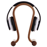 SAMDI Wooden Headphone Stand Headphone Holder Headset Hanger Headset Rest - For All Headphone Size In Brich (Brown) - one46.com.au