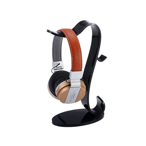 Double Heads Headphone Headset Stand Holder Stand Holder Fashion Desktop Storage Display For Headphones Bracket - one46.com.au