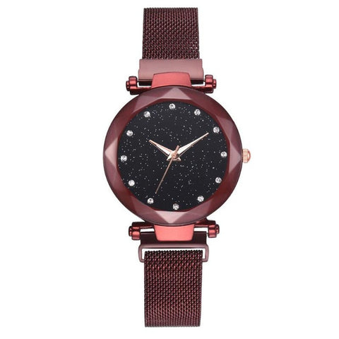 Fashion Women's Star Quartz Watch Magnet Strap Magnets Watch For Women Hand Accessories - one46.com.au