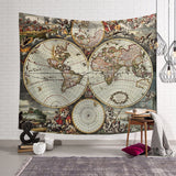 World Map Pattern Wall Tapestry  Wall Hanging Blanket Farmhouse DecorHome Decorations Machine A Imprimer Sur Tissu Shabby Chic - one46.com.au