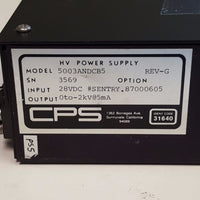 CPS HV Power Supply, 5003ANDCB5, 28Vdc Input, 0-2KV, 5ma output