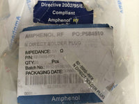 Amphenol RF Products 82-5955-RFX Type N Coaxial Adapter, N Direct Solder Plug