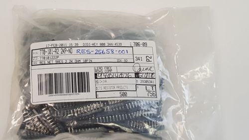 Qty 500, CTS, Resistor Array 9 RES 2.2K OHM 10SIP, 770101222P