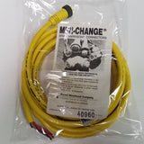 Brad Harrison 40960, Mini Change Cordset, 3 pole Female, 16 ga. 12 ft, 600V, 10A