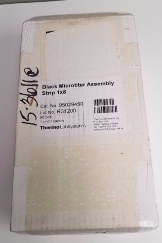Box of 50 / Thermo Labsystems 95029450 Black Microtiter Assembly Strip 1x8