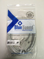Blue Diamond or StarTech Cables, 6 ft DB9 M/F Serial Extension, RS232 Qty 10