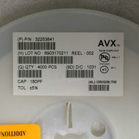 AVX Corporation 12065A181JAT2A, Ceramic Capacitors 180PF 50V 5% NP0, Qty 4000