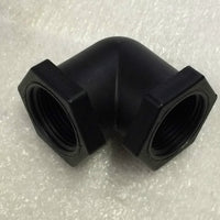 "3/4"" FPT Polypropylene 90-degree Pipe Elbow - Qty 5,"