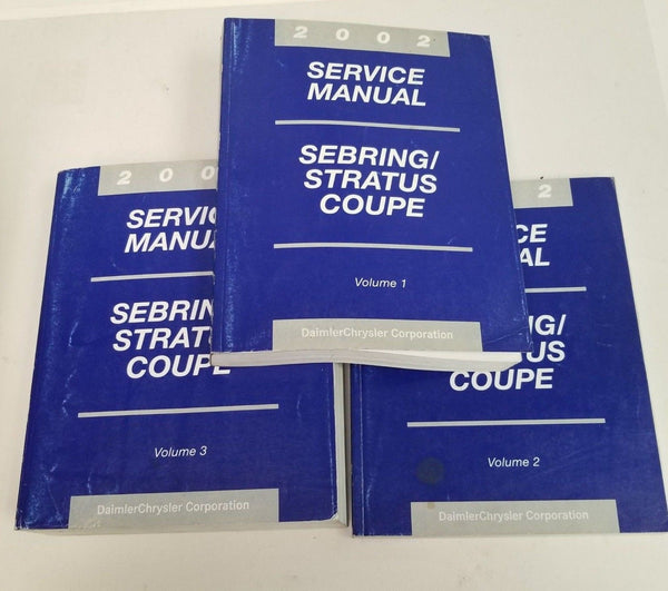OEM 2002 Chrysler Sebring / Dodge Stratus Coupe Service Shop Repair Manual Set