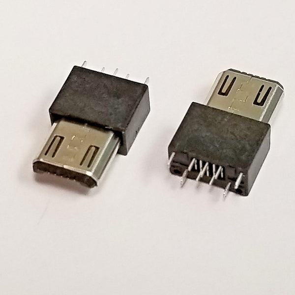 Micro USB Type-B Male 5Pin Wire Solder Plug Connector - 2,10 or 100