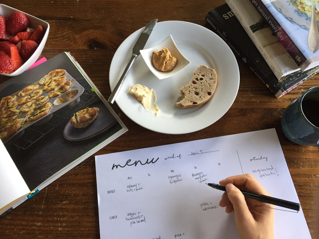 Why I create a weekly meal plan