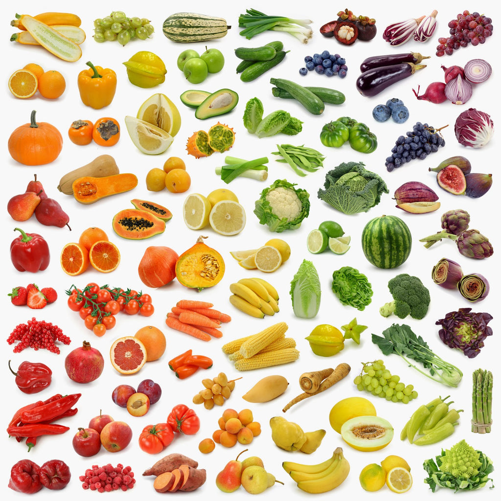 rainbow of foods