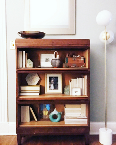 open and styled shelves