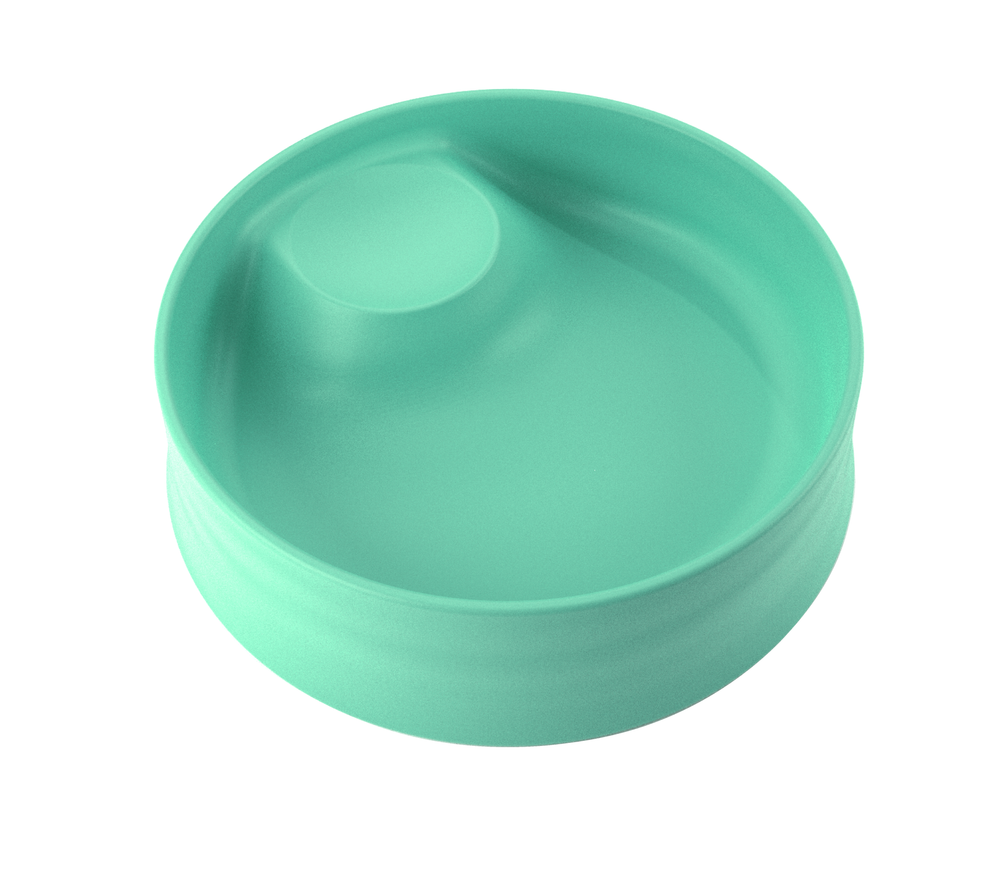 Kizingo baby and toddler nudge bowl in mint green for picky eating