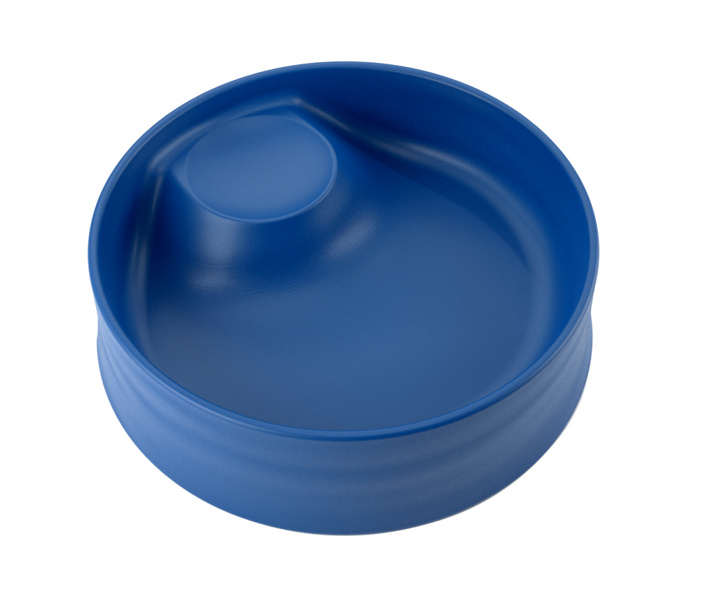 kizingo baby and toddler nudge bowl in dark blue