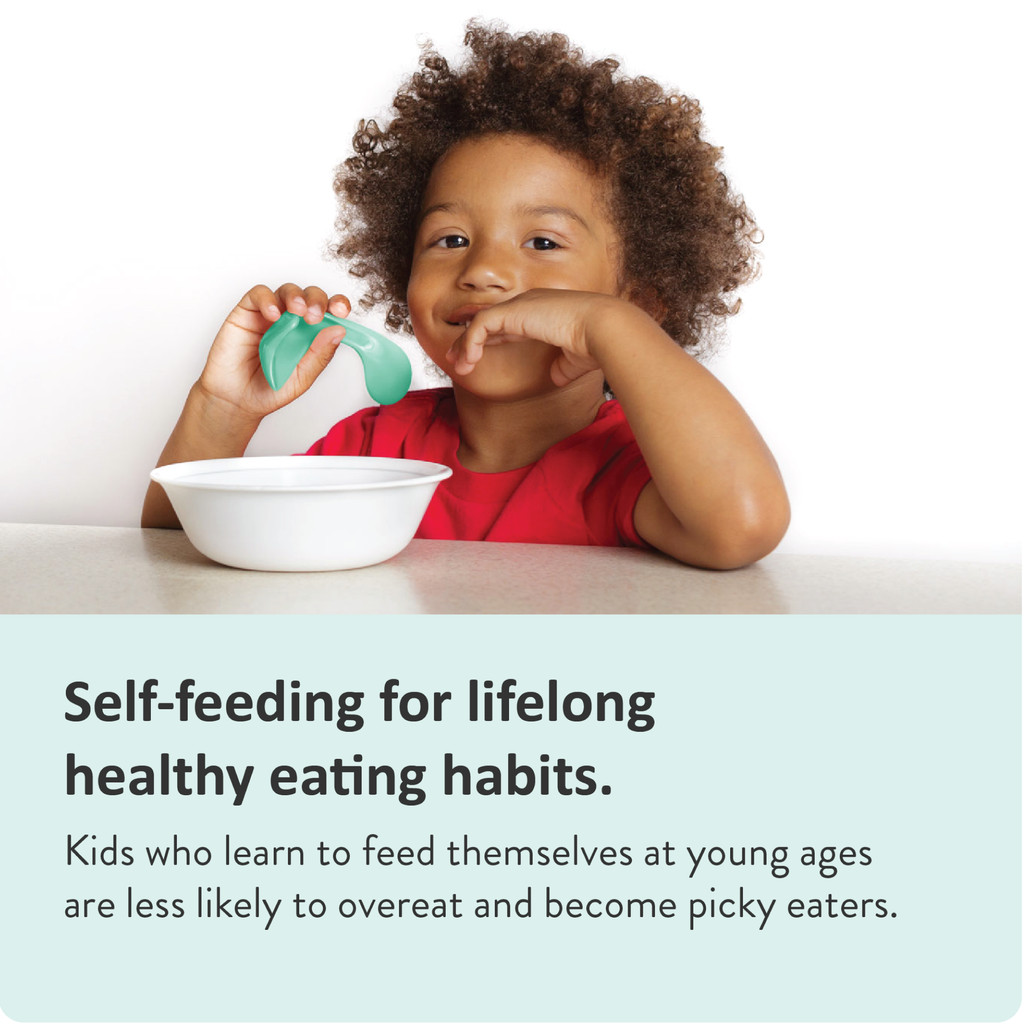 kids who can feed themselves develop healthier eating habits