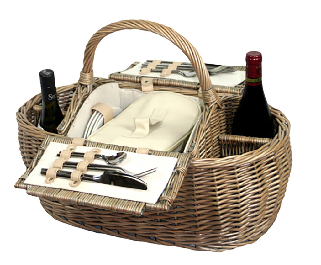 4 Person Boat Shaped Hamper - Eaton Hampers & Basketware