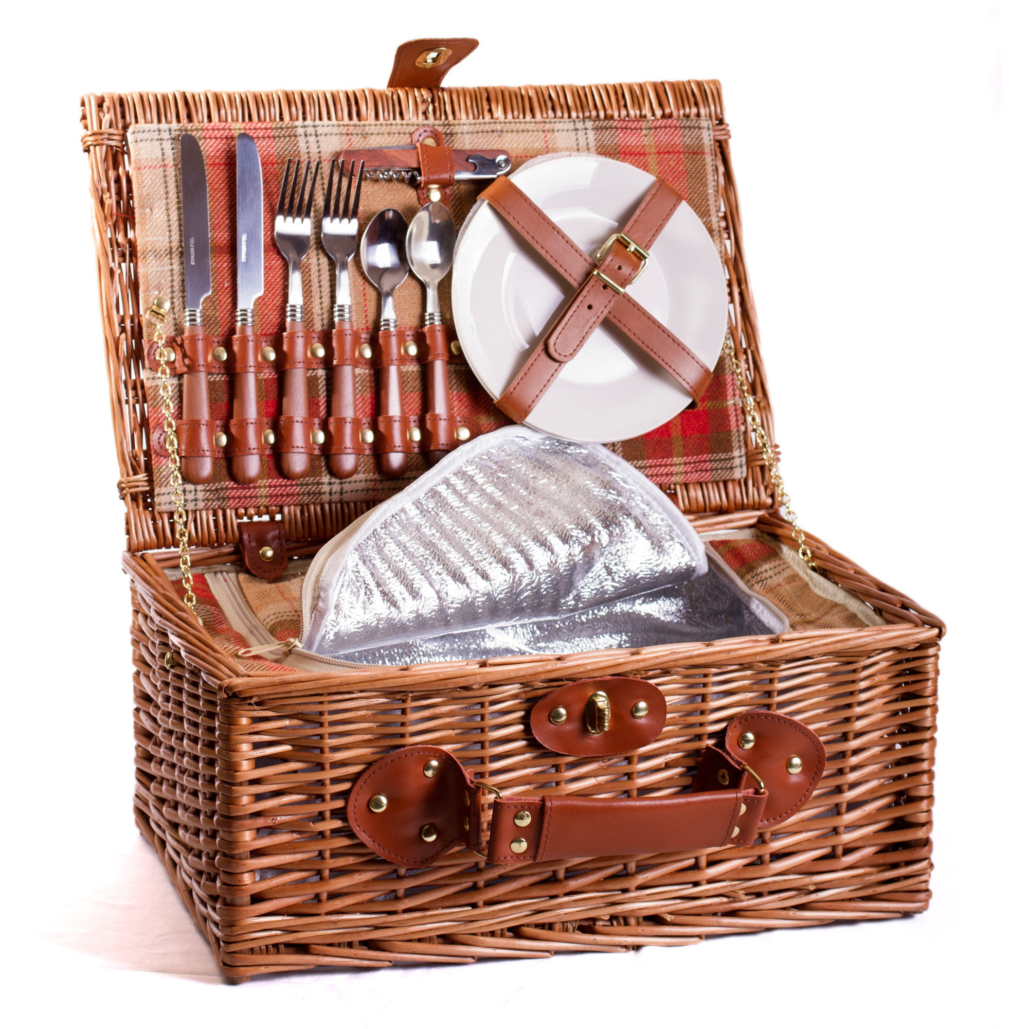 Amber & Tan Chiller Picnic Hamper For 2 - Eaton Hampers & Basketware