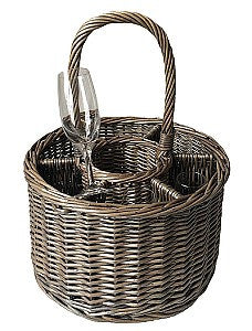 6 Glass Country Garden Party Basket - Eaton Hampers & Basketware