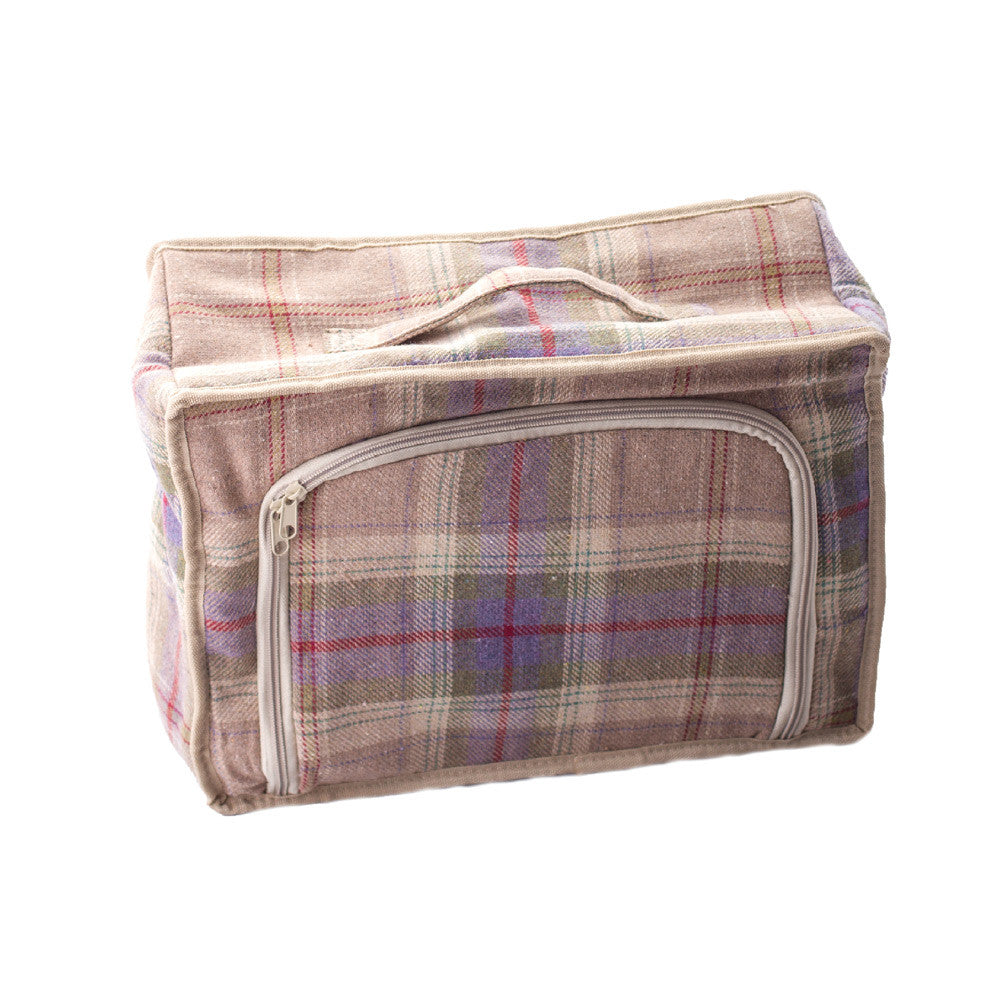 Grey Tartan Hamper for 4 - Eaton Hampers & Basketware