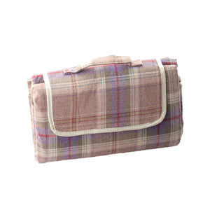Grey Tartan Picnic Blanket - Eaton Hampers & Basketware