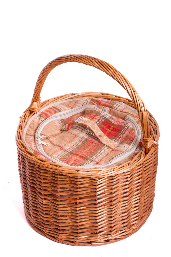 Amber Tartan Round Chiller - Eaton Hampers & Basketware