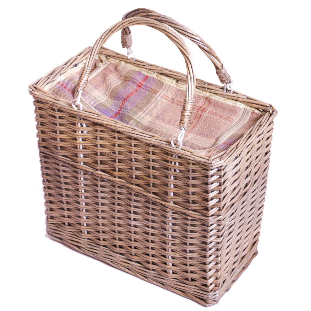Lavender Tartan Rectangular Chiller - Eaton Hampers & Basketware