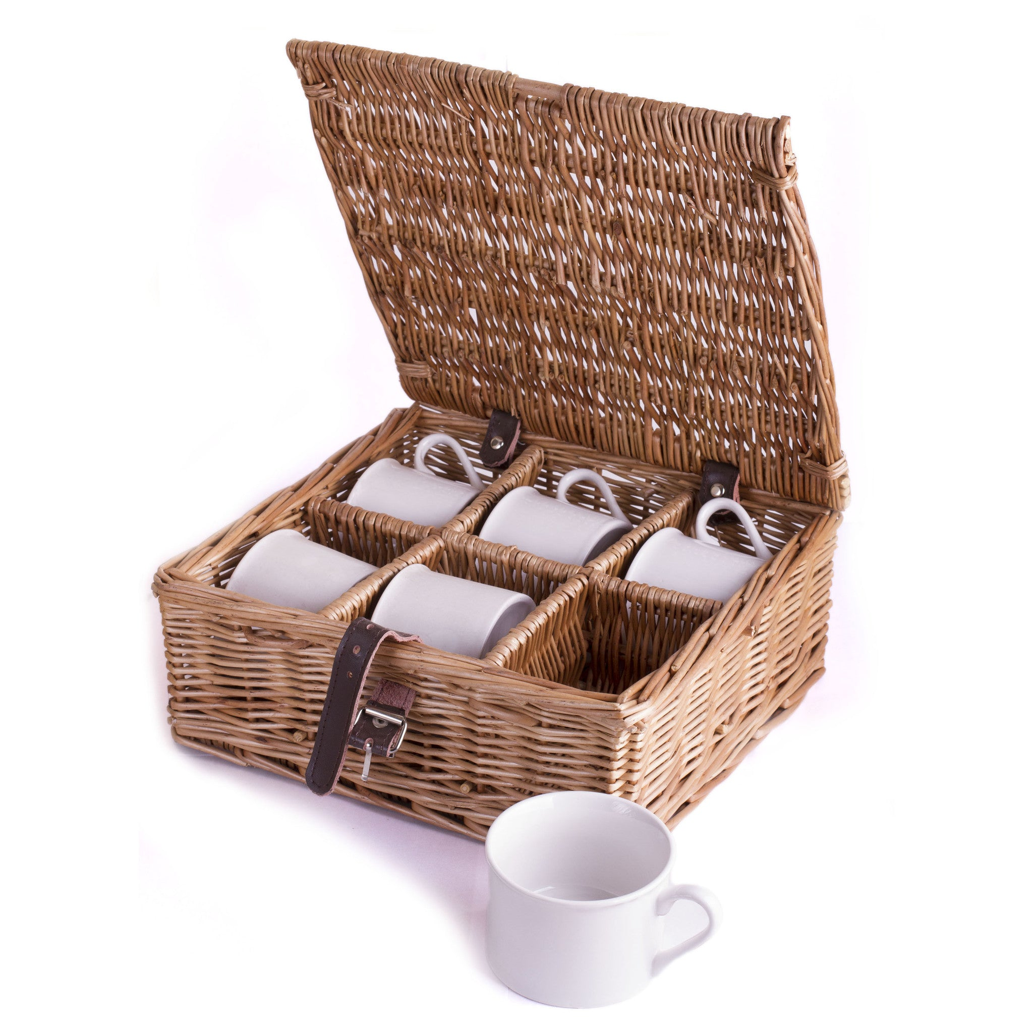 6 Mugs and Case (Add On Price) - Eaton Hampers & Basketware