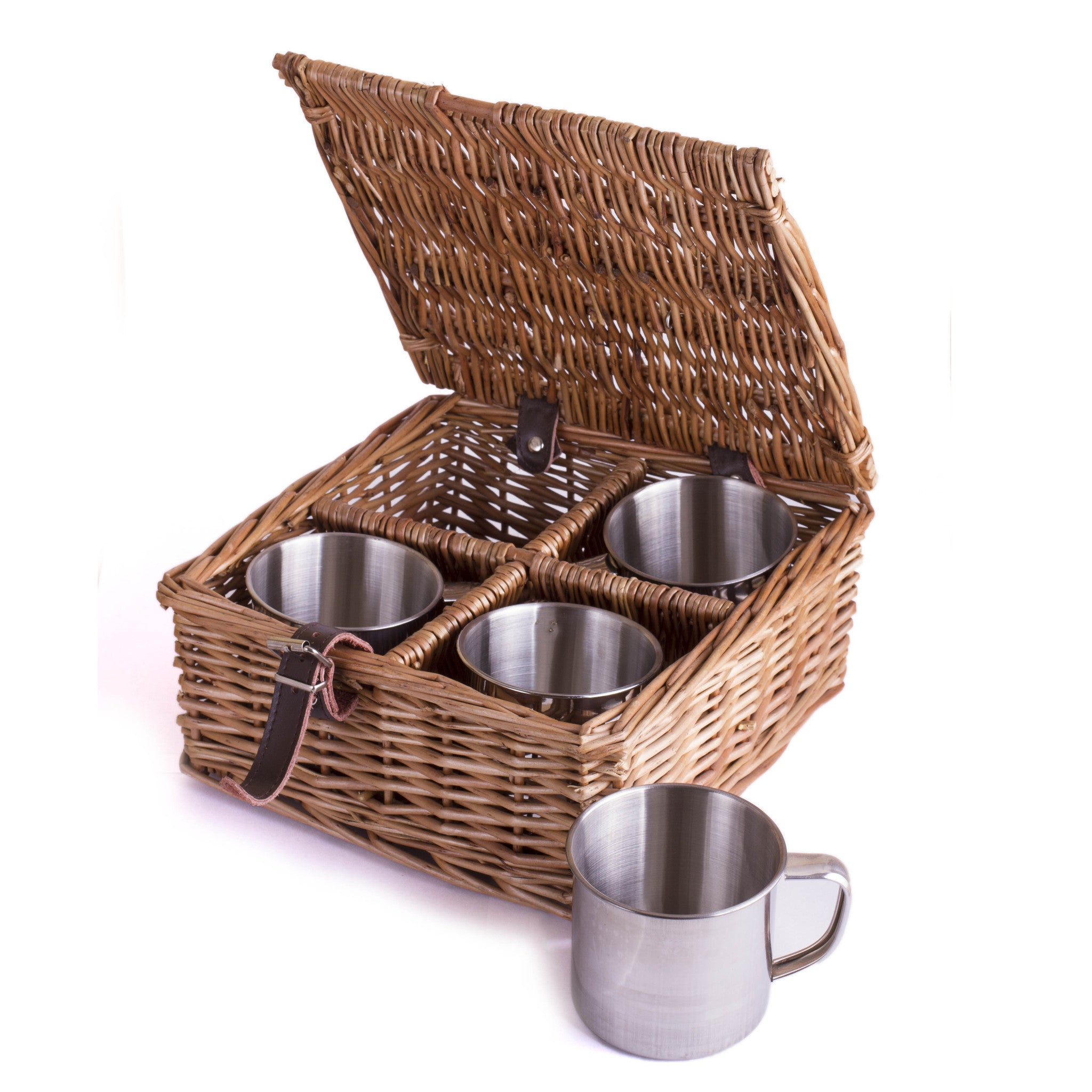 4 Cups and Case (Add On Price) - Eaton Hampers & Basketware