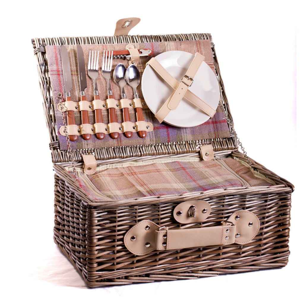 Lavender & Ivory Chiller Picnic Hamper For 2 - Eaton Hampers & Basketware