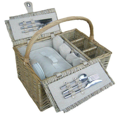 4 Person Bottle Lidded Hamper - Eaton Hampers & Basketware
