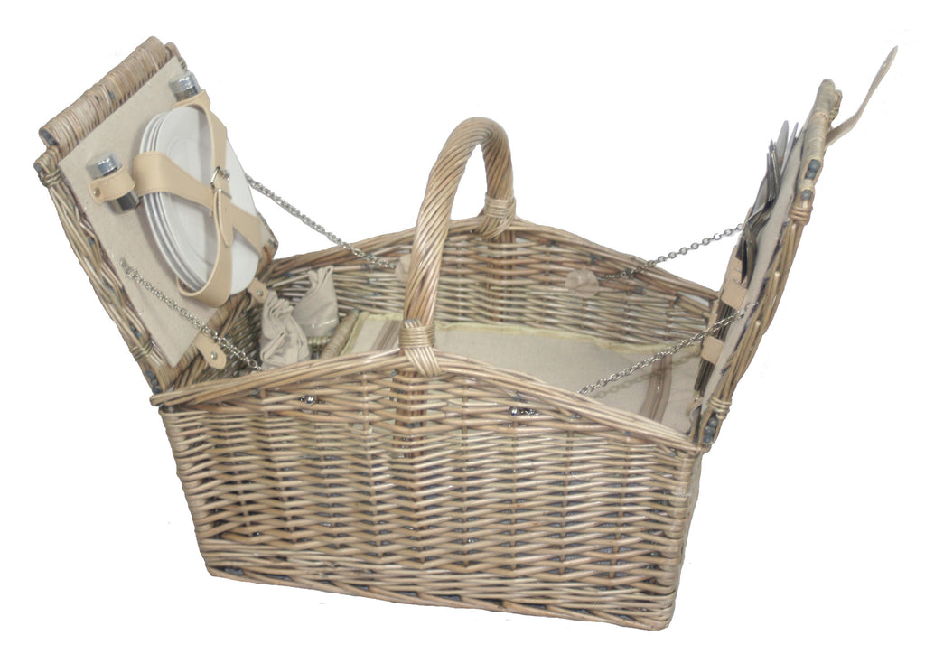 4 Person Arch Lidded Picnic Hamper - Eaton Hampers & Basketware