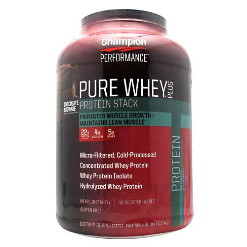 Champion Nutrition Pure Whey Plus - Chocolate Brownie - 4.8 lb - 027692114204
