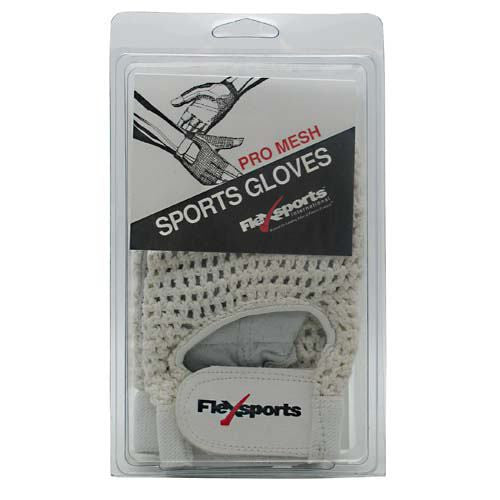 Flexsports International Pro Mesh Sports Gloves White - Large -   -