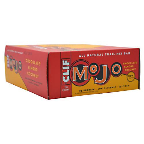 Clif Mojo All Natural Trail Mix Bar - Chocolate Almond Coconut - 12 Bars - 722252326348