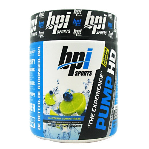 BPI Pump HD - Blueberry Lemon Freeze - 25 Servings - 811213022495