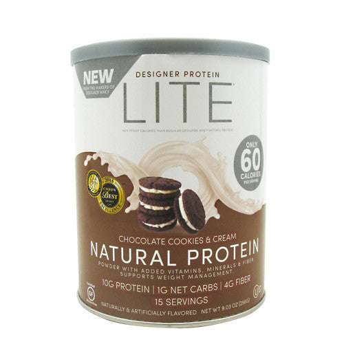 Designer Protein Natural Protein Lite - Chocolate Cookies & Cream - 15 Servings - 844334010232