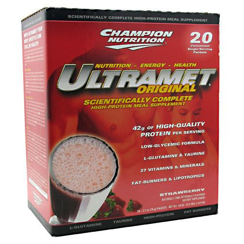 Champion Nutrition Ultramet Original - Strawberry - 20 Packets - 027692118509