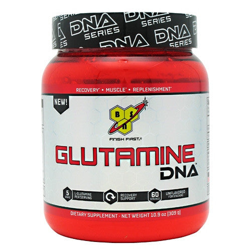 BSN DNA Glutamine, 60 Servings - Unflavored - 60 Servings - 834266002917