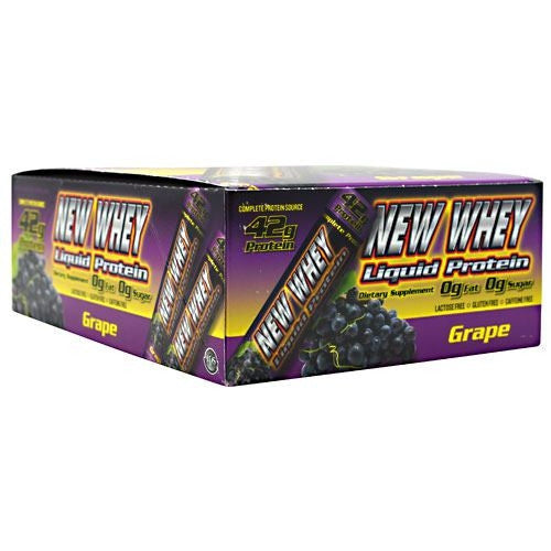 New Whey Nutrition New Whey Liquid Protein - Grape - 12 ea - 675941001531
